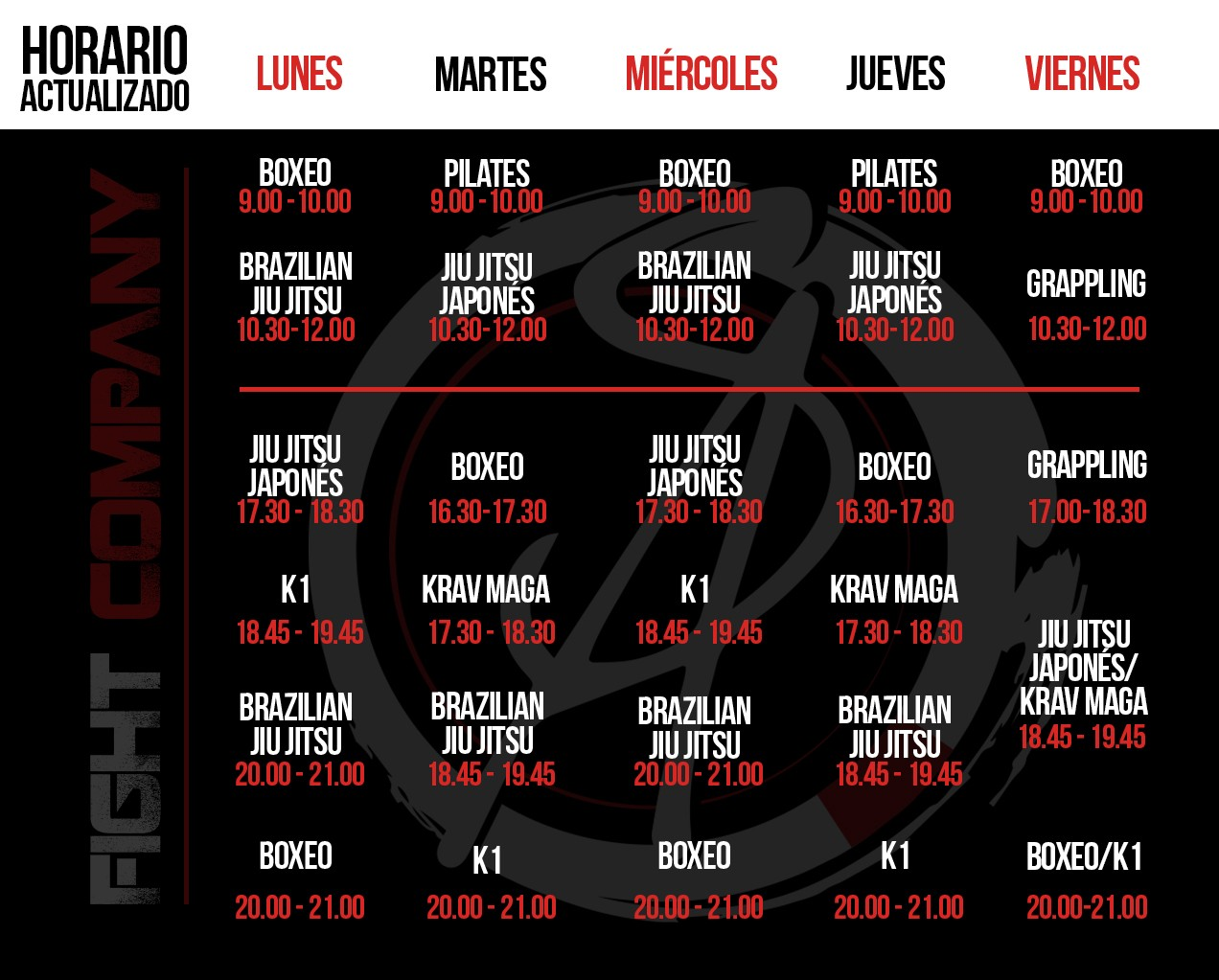 horario sa fight company